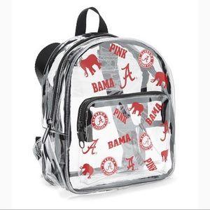 PINK Victoria's Secret ALABAMA Clear Backpack NWT
